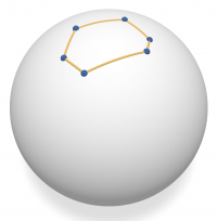 Convex spherical polygon