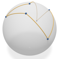 Spherical pseudo-triangle